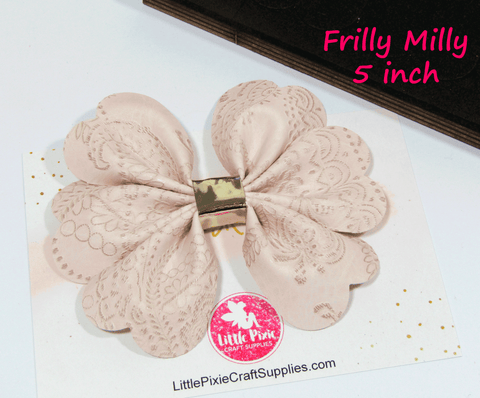 "Frilly Milly - 5"" Bow Die"