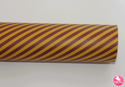 Gryffindor Stripes - Litchi Print Leatherette Full Sheet - (measures 20 x 34cm) larger than standard A4 size Half Sheet -  (measures 20 x 17cm) larger than standard A5 size (available upon request if in stock, please contact us)
