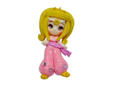 Leah - Shimmer & Shine - Clay Embellishment.  Beautiful handmade flatback polymer clay embellishment, perfect for bow centres.
