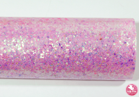 Light Pink - Smooth Glitter Leatherette