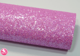 Luminous Lilac - Chunky Glitter Leatherette.  Choose from a full sheet (larger than A4) or half sheet (larger than A5).  Perfect for all your craft projects, including Hair Bows, Headbands, Earrings, Jewellery accessories, Notebook covers, Make-up Bags, Purses & Pencil Cases and many more! Our printed and plain Faux Leathers can be easily cut by hand with scissors, cutting dies or machines such as Sizzix Big Shot.