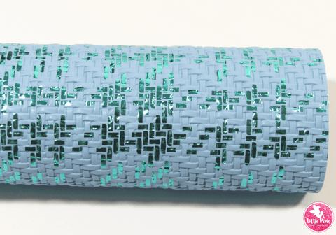 Metallic Blue Weave - Blue Leatherette
