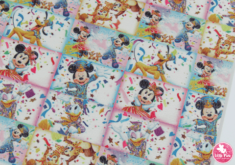 Mickey Mouse Magic - Litchi Print Leatherette