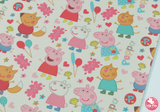 Peppa Pig Party - Canvas Leatherette Full Sheet - (measures 20 x 34cm) larger than standard A4 size Half Sheet -  (measures 20 x 17cm) larger than standard A5 size (available upon request if in stock, please contact us)