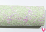 Pine Frost - Lace Glitter Leatherette