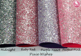 """Pixie Wishes"" Midnight - Chunky Glitter Leatherette (with a colour matching backing)"