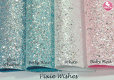 """Pixie Wishes"" Ballet Slipper - Chunky Glitter Leatherette (with a colour matching backing)"