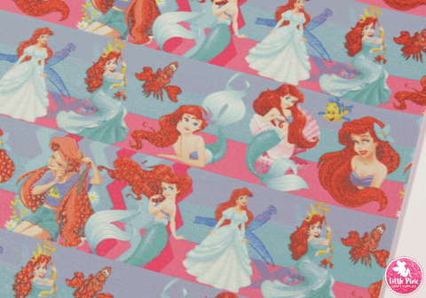 Princess & Mermaid Ariel - Litchi Print Leatherette