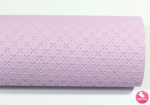 Light Purple - Cross Embossed Leatherette