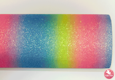 Rainbow Gradient - Pink Yellow & Blue Leatherette