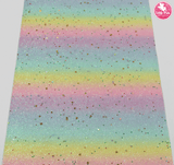 Rainbow Twinkle - Glitter Leatherette Full Sheet - (measures 20 x 34cm) larger than standard A4 size Half Sheet -  (measures 20 x 17cm) larger than standard A5 size