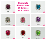 Rectangle Rhinestone Embellishment