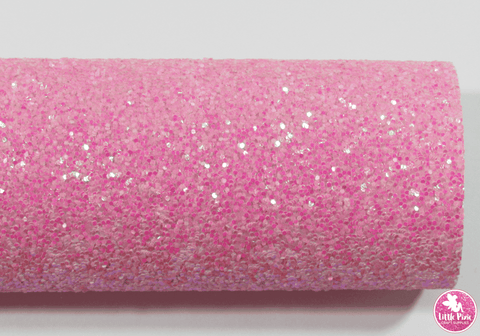 Rose Pink - Chunky Glitter Leatherette