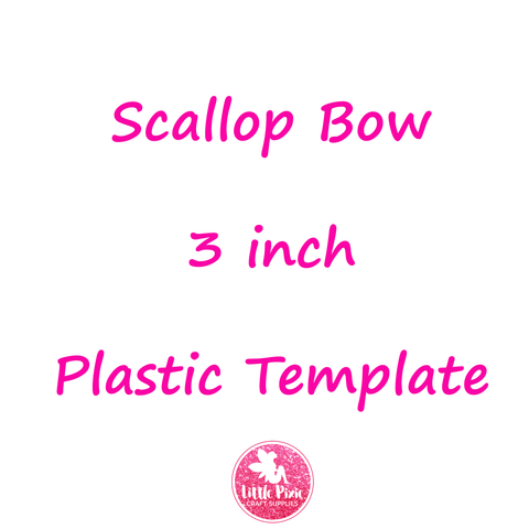 "Scallop - 3"" Bow Die or Template (Double Stacker)"