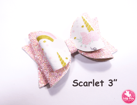 """Scarlet"" Double Stacker Bow Die or Template - 4"" / 5"" / 6"" sizes available"
