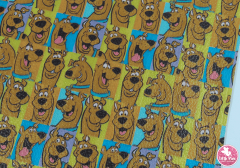 Scooby Doo - (0.75mm) Litchi Print Leatherette
