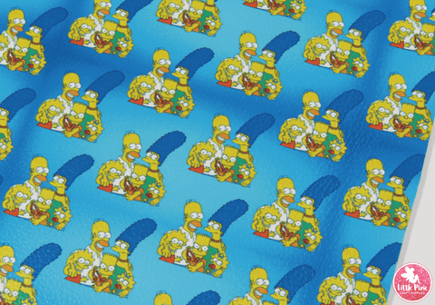 Simpsons - Litchi Print Leatherette