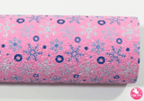 Snowflake - Pink Chunky Glitter Leatherette