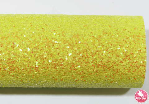Sparkle Yellow - Chunky Glitter Leatherette