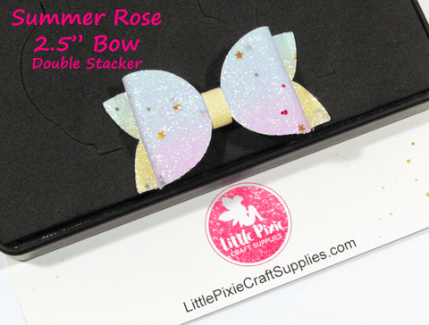 "Summer Rose - 2.5"" Bow Die (Double Stacker)"