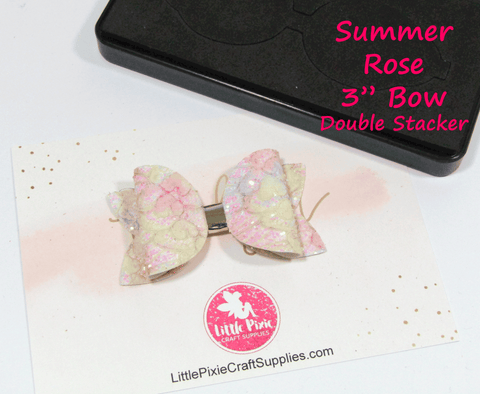 "Summer Rose - 3"" Bow Die (Double Stacker)"