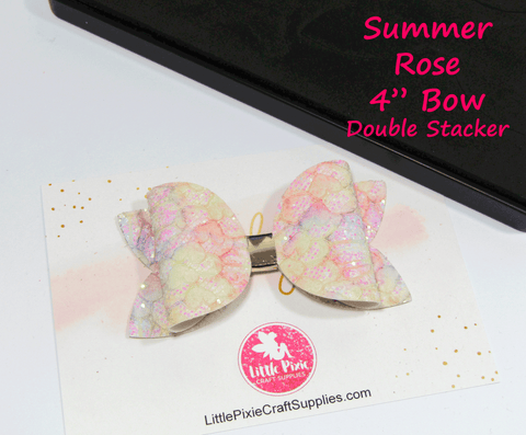 "Summer Rose - 4"" Bow Die (Double Stacker)"