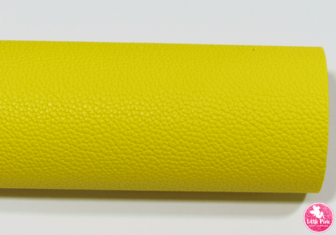Yellow - (0.75mm) Litchi Print Leatherette