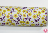 Yellow Floral - Smooth Leatherette