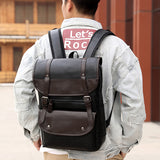 Large Capacity PU Leather Backpack