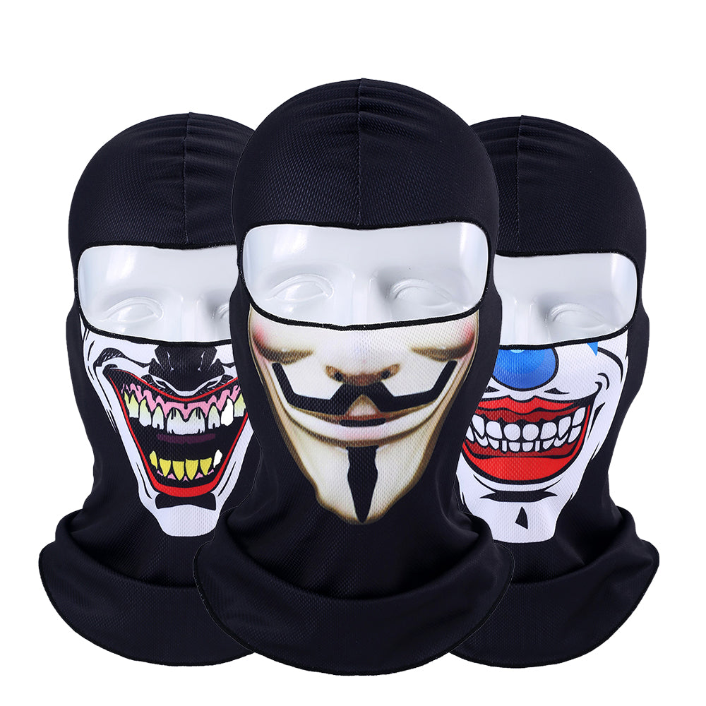 3D Orcs Clown Balaclava Joker V for Vendetta Mask Motorcycle Moto Ski Snowboard Hat Helmet Liner Biker Face Shield Cap Men Women