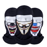 3D Orcs Clown Balaclava Joker V for Vendetta Mask Motorcycle Moto Ski Snowboard Hat Helmet Liner Biker Unisex Face Mask