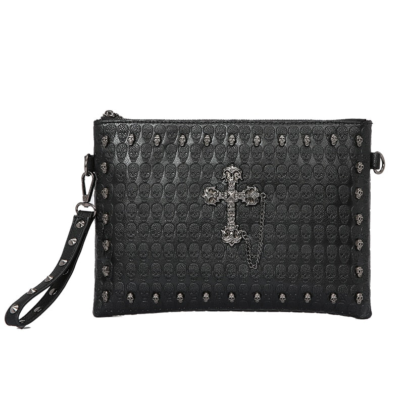 Skull Shoulder * IPAD  Bag   (Black (20cm<Max Length<30cm))