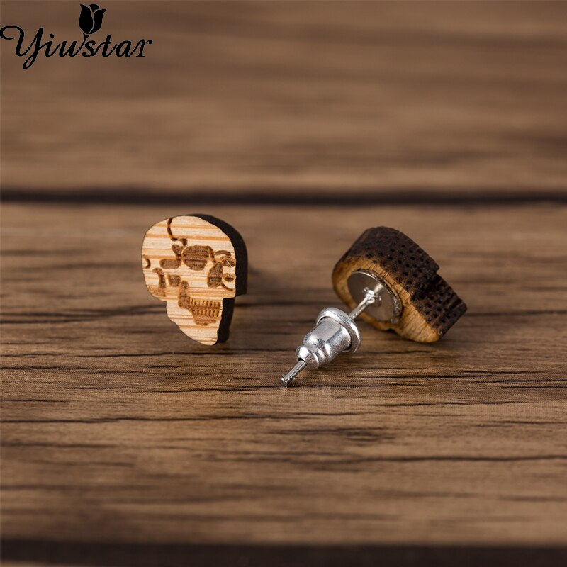 Women's Wooden Stud Earrings Jewellery - WOOD
