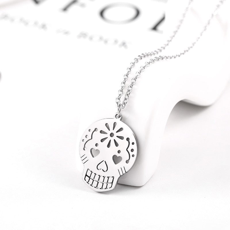 Skeleton Necklace Stainless Steel