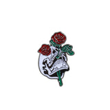 Gothic Skeleton Enamel Pins Skull Rose Skeleton With Guitar Brooch Bag Badges Jean Lapel Pin Jewelry Gift for Friend Accessories