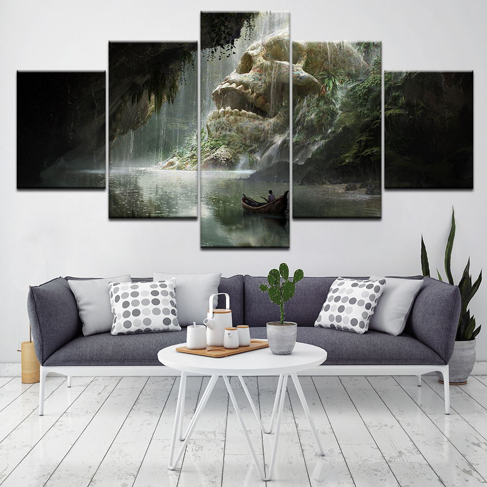 Minimalist HD Print Painting Wall Modular 5 Set Picture Skull Modern Style Artwork Canvas Home House Decoration Posters For Gift