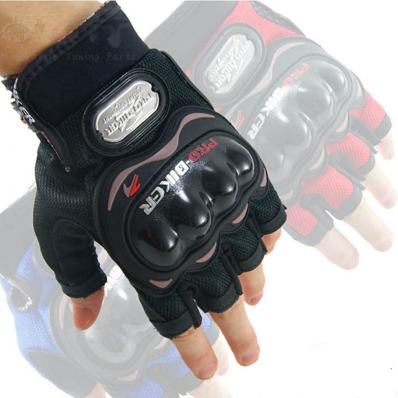 Biker half finger motorcycle gloves winter summer leather luvas para moto motorbike motocross downhill biker gloves