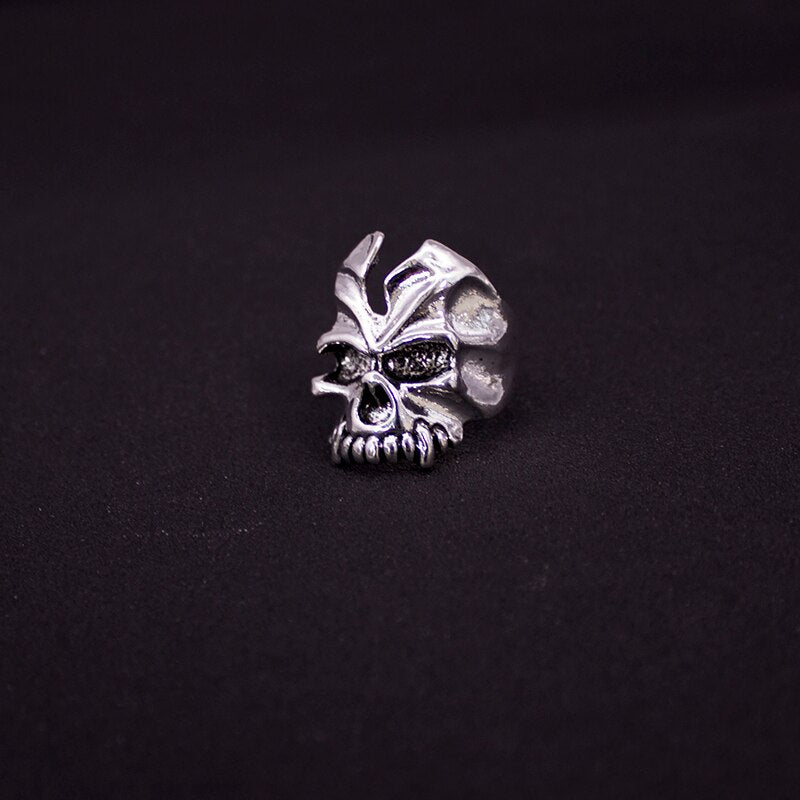 Free Shipping Mix 10 Piece Top quality Gothic Punk Assorted Wholesale Lots Skull Style Bikers Men's Vintage Tibetan Silver Rings