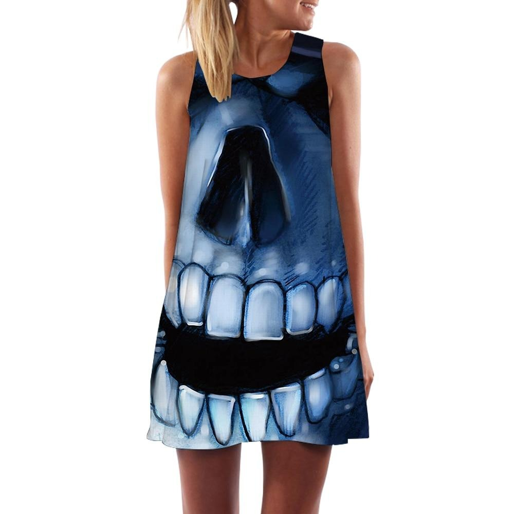 Womens *Skeleton Boho *Skull Dresss