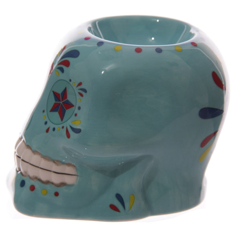 Day of The Dead - Skull Head Ornament Granule Dia de los Muertosan Flo