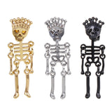Earrings Skull Skeleton Man Women Jewelry Charms Personality Hollow Vintage Fashion Creative Hip Hop Ear