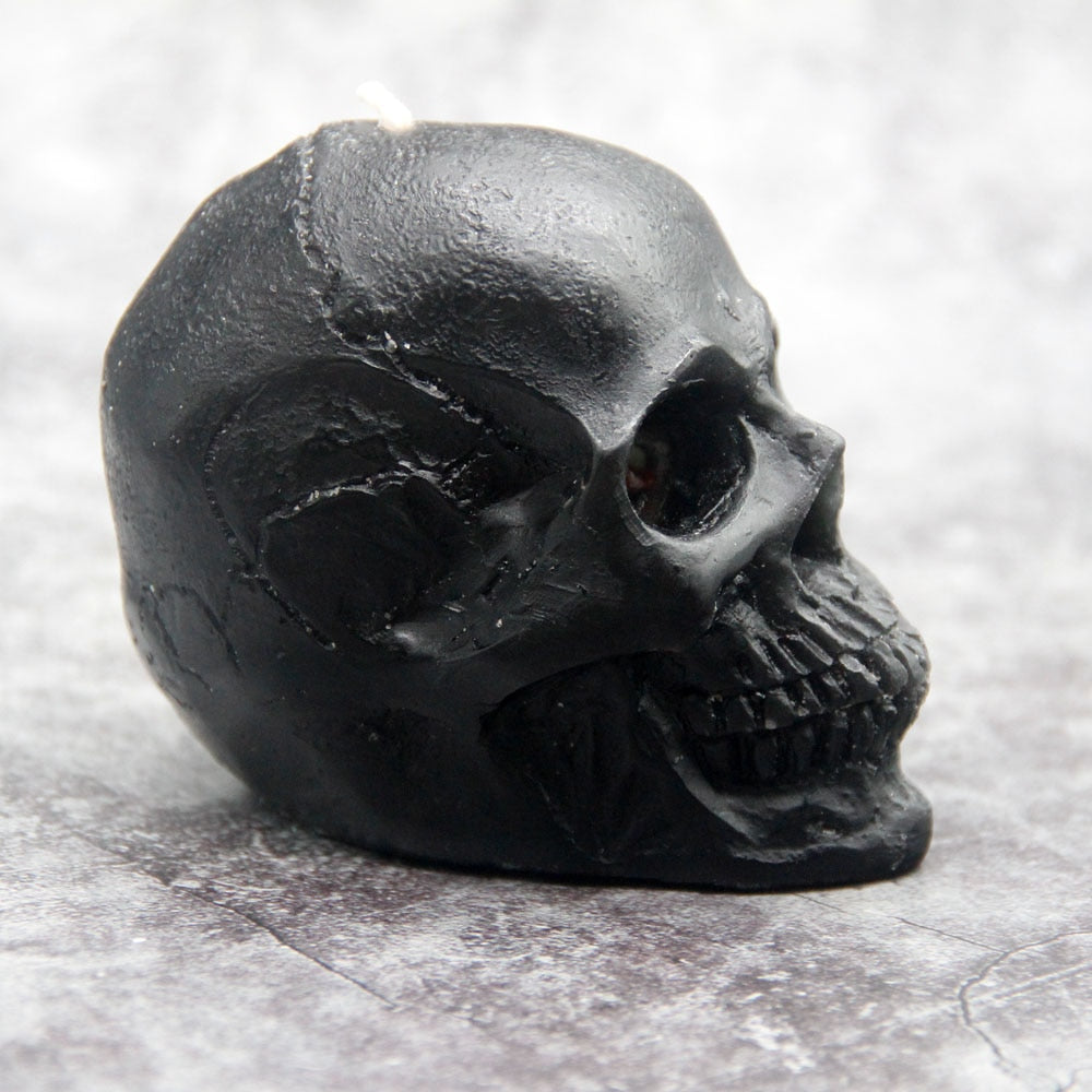 Candle Skull Head 'Crying Candles'  Halloween Large smokeless Skeleton terror candle