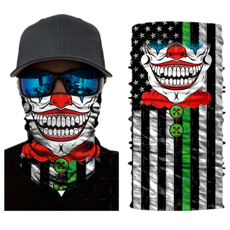 3D Seamless *Face Scarf Skull Mouth *Bandana
