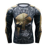 2020 Fitness Running Shirt  *Rashguard Male  *Compression Long Sleeve  *Bodybuilding T Shirt  *Skull Design  *3D Print