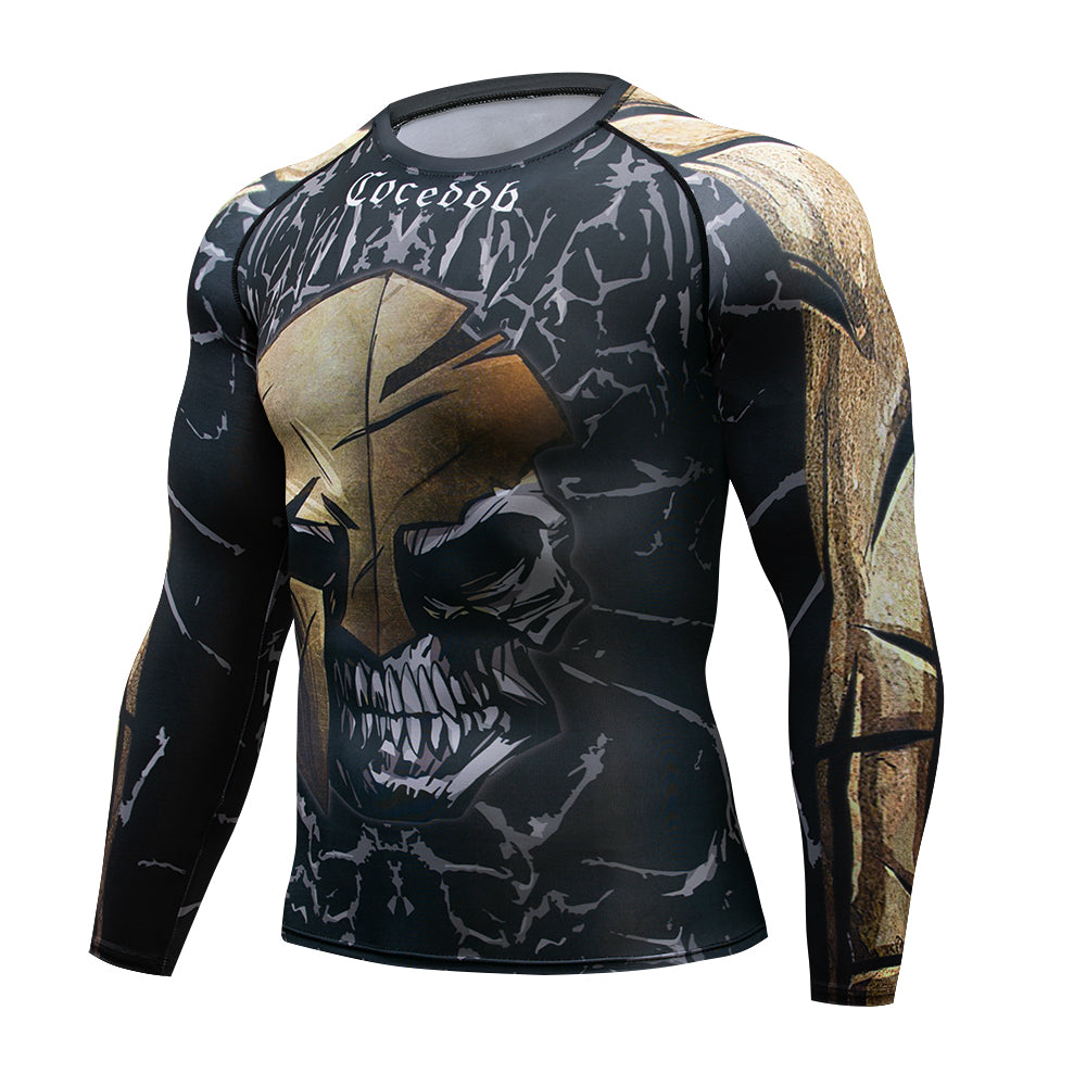 2020 Fitness Running Shirt *Rashguard Male  *Compression Long Sleeve  *Bodybuilding T Shirt *Skull 3D Print 3D T Shirt Top