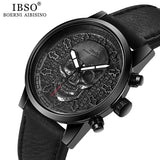 IBSO Brand Skull Quartz Watch for Men 2019 Creative Skullies Sport Quartz Hours Male Wristwatch Clocks Hiphop relogios masculino