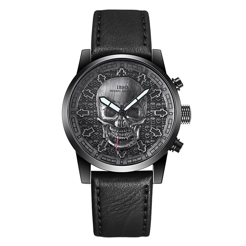 Skull Quartz Watch for Men Creative Skullies Sport Quartz