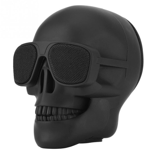 Wireless Bluetooth Skull Speaker Portable Mini Stereo Sound Unique Enhanced Bass Speakers 5W Audio Music Player Support TF Card