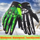 Skeleton Bones Winter Warm Cycling Gloves Windproof Waterproof Touchscreen Sports Gloves