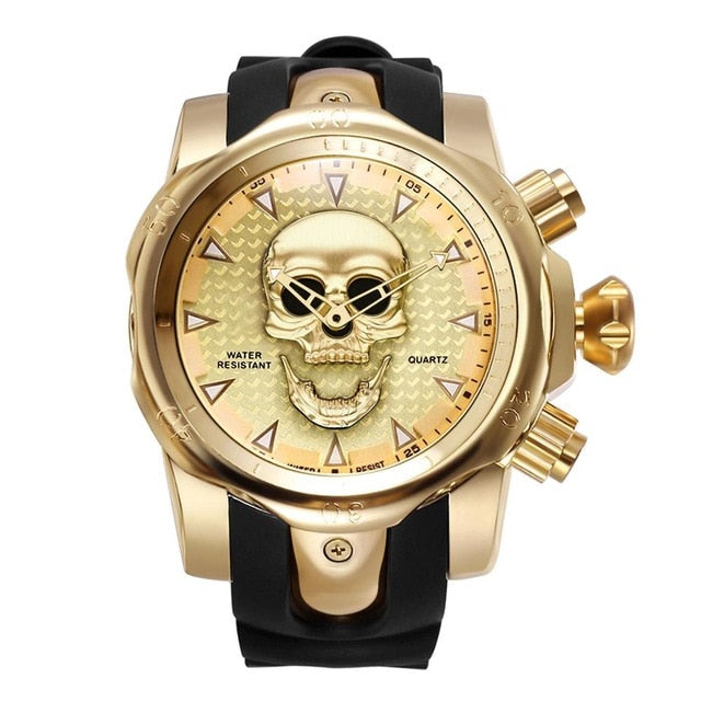 Steampunk Big Dial Skull Watch